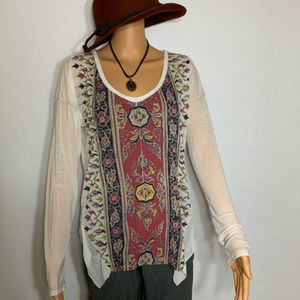 ANAMA AZTEC SUPER SOFT LONG SLEEVE TO SIZE MED